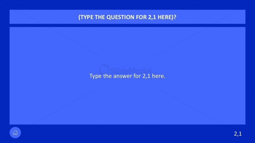 7 category question game show powerpoint - slidemodel, Modern powerpoint