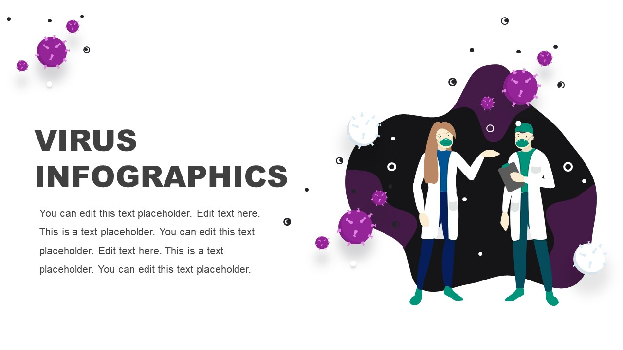 Slides of Virus Infographics PPT
