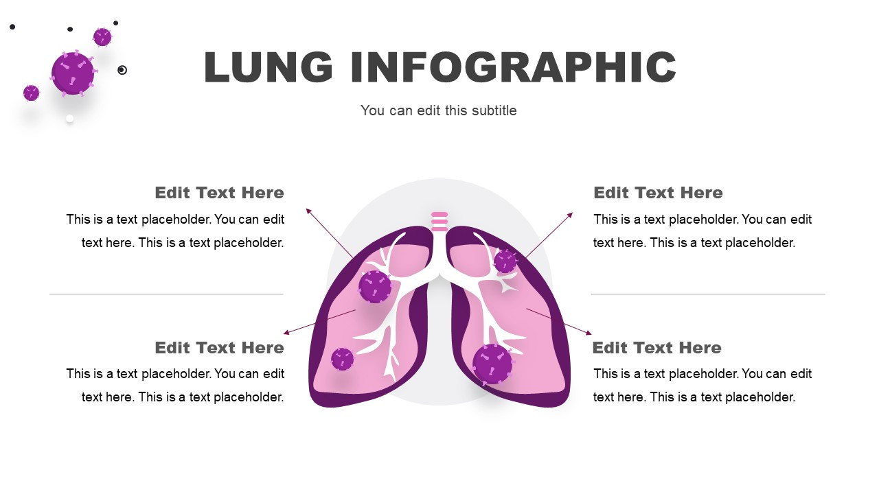 PowerPoint Lung Infographics Diagram Template