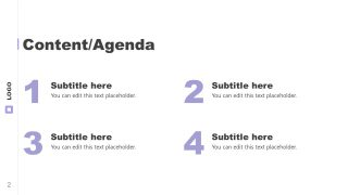 Simple Slide of Excellence Agenda