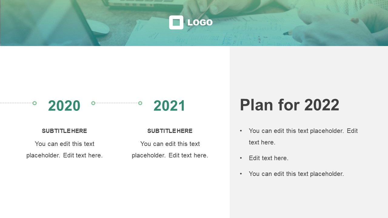 Horizontal Timeline Template for Company