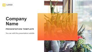 Orange Gradient PowerPoint Theme