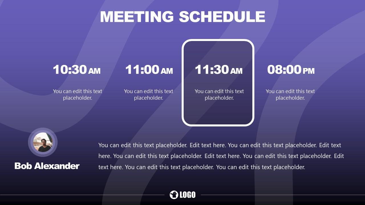 PowerPoint Meeting Template Design