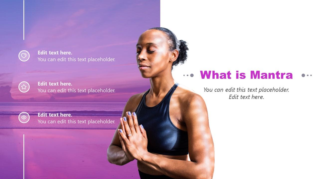 Graphics of Yoga Pose Mantra