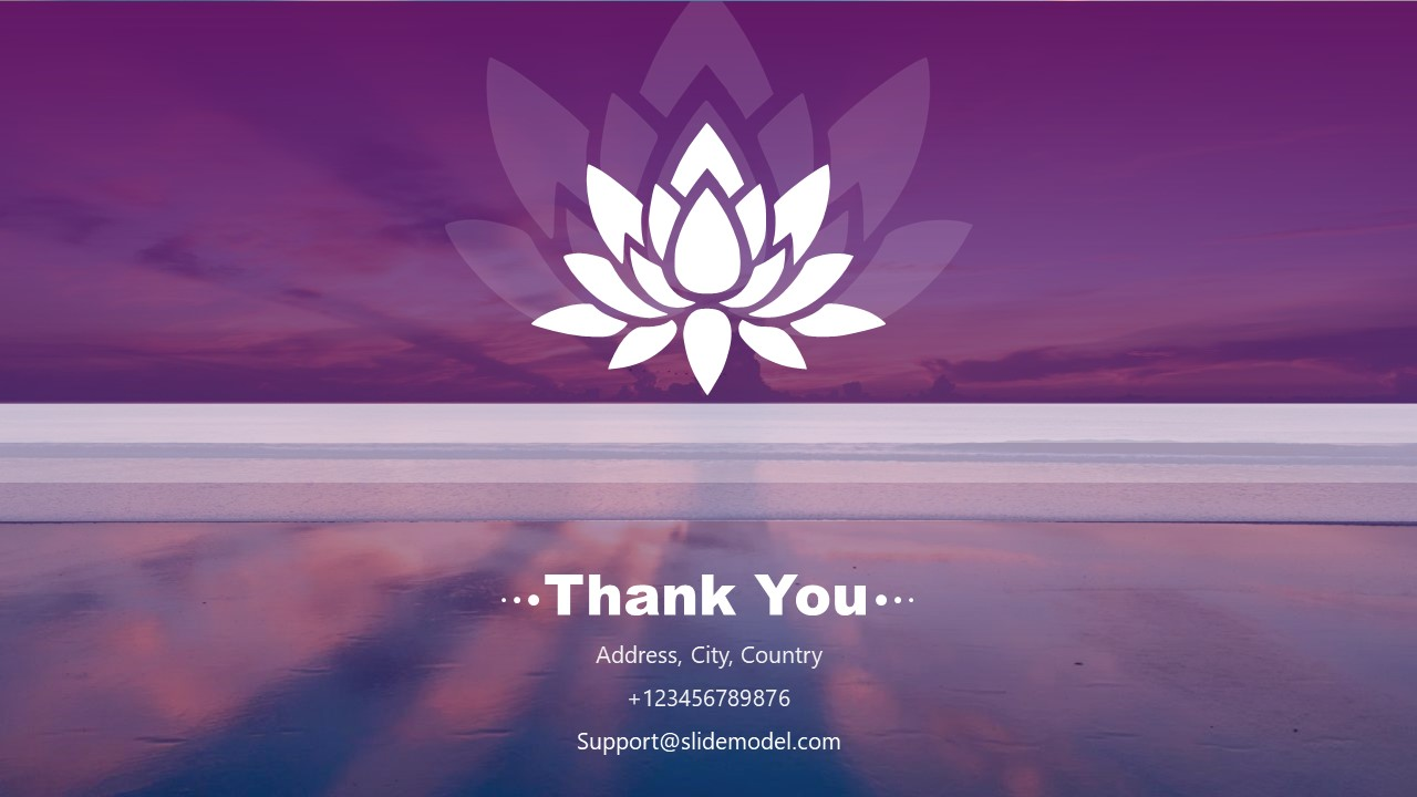 Water Lily Flower Yoga PowerPoint