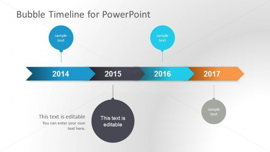 Horizontal Bubbles Timeline Design For Powerpoint - Slidemodel