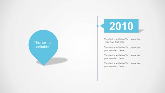 Timeline Milestone Slide Design Description 1-Year