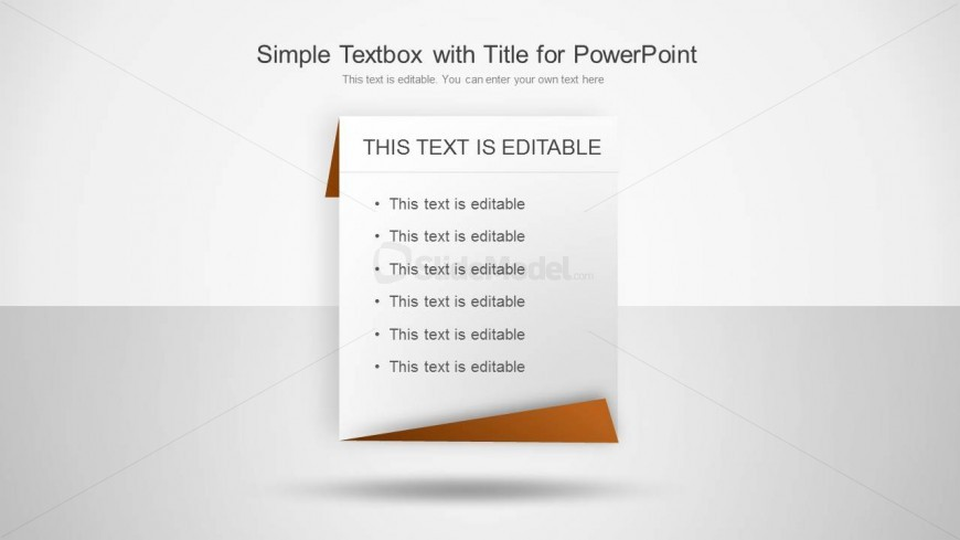 Simple Individual Text Table with Border for PowerPoint with space to enter the description and title