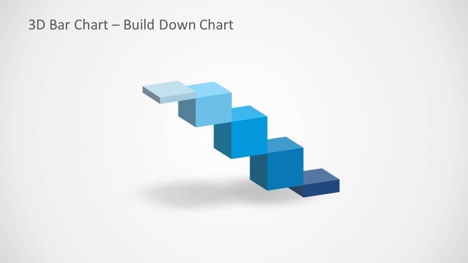 Waterfall chart for PowerPoint with 3D effect