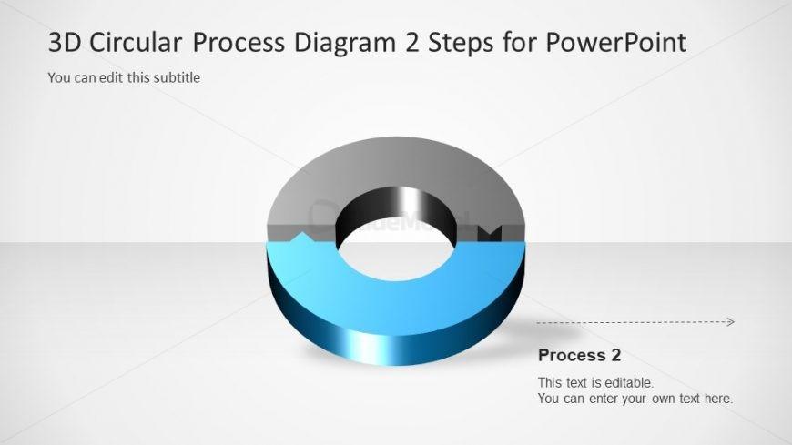 Presentation Design 2 Steps Chevron Cycle