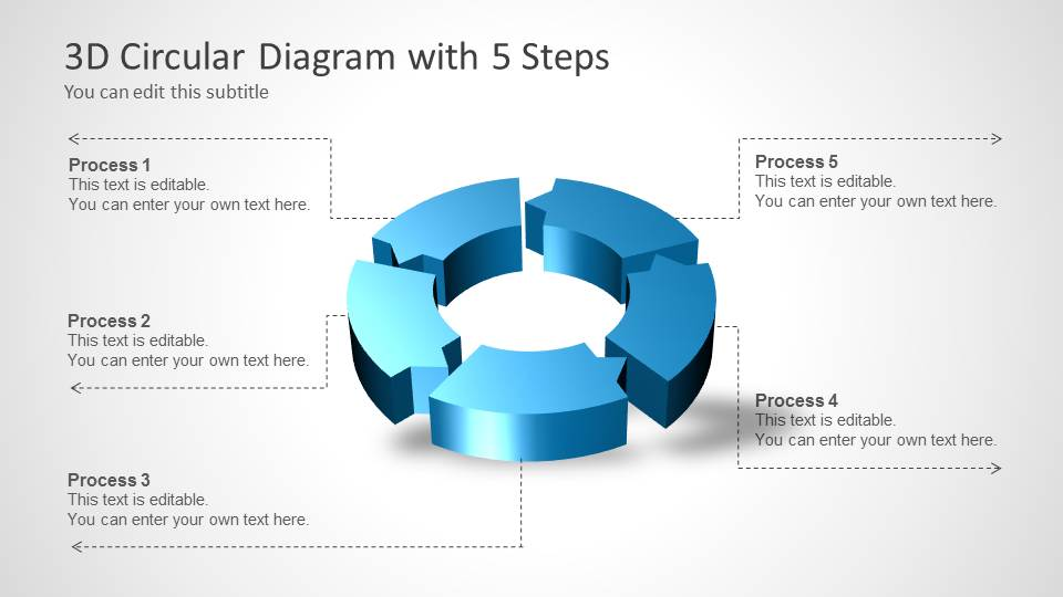3d circle diagram introduction to electrical wiring diagrams 3d circular process diagram 5 steps for powerpoint slidemodel rh slidemodel com minecraft circle diagram circle diagram blank ccuart Gallery