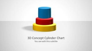 3D Concept Cylinder Chart Title Slide