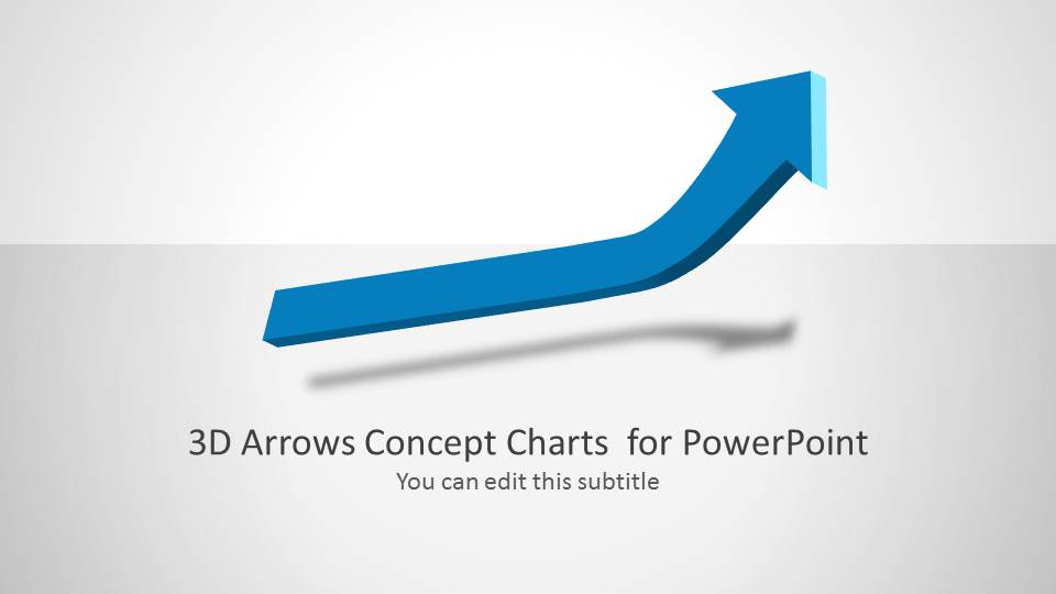 3d Arrows Concept Charts For Powerpoint Slidemodel