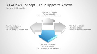 Four Opposite Arrows for PowerPoint