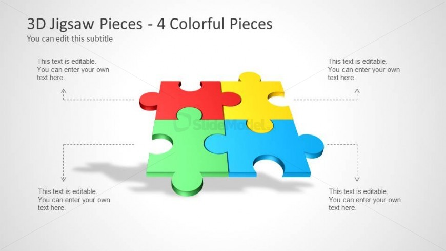 Colorful Puzzle Piece Template For PowerPoint SlideModel - Jigsaw graphic for powerpoint