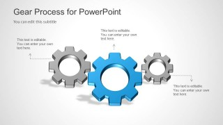 3 Gear Process Slide Design for PowerPoint