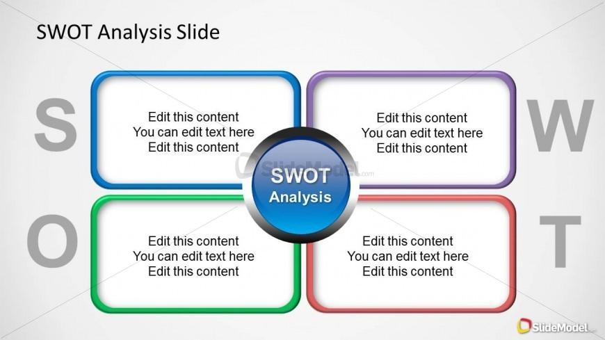 simple swot ppt slide design   slidemodel
