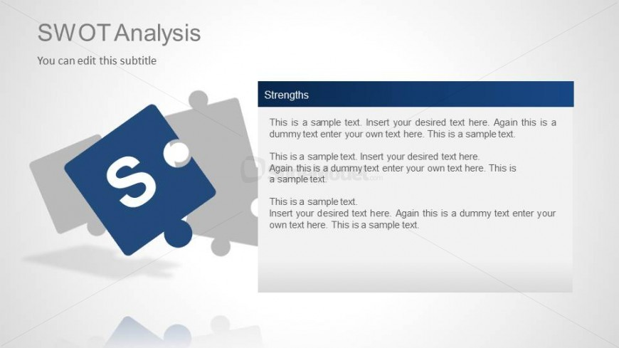 SWOT Analysis Template Slide Design