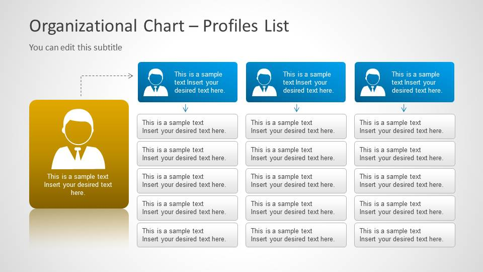 org chart template for powerpoint  slidemodel, Powerpoint
