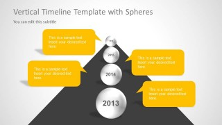 Milestones with Spheres Slide Design for PowerPoint Timelines