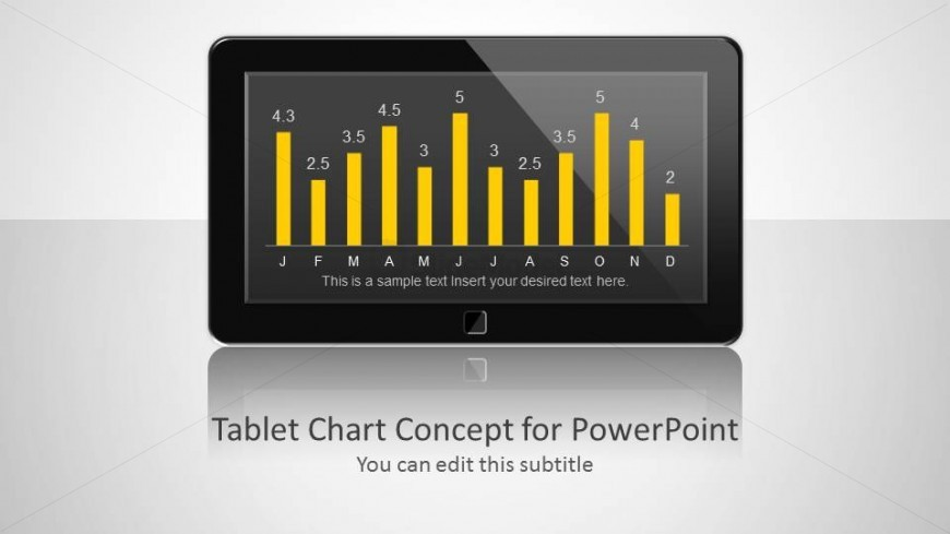 Data Dashboard Template Design for PowerPoint