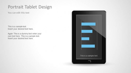 Vertical Tablet Shape for PowerPoint Presentations
