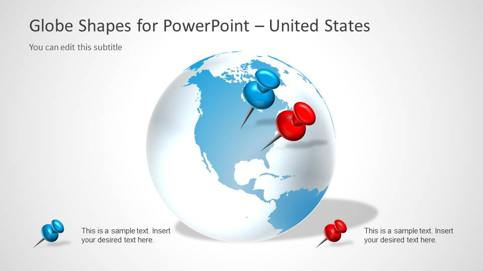 North America Globe Earth PowerPoint Design
