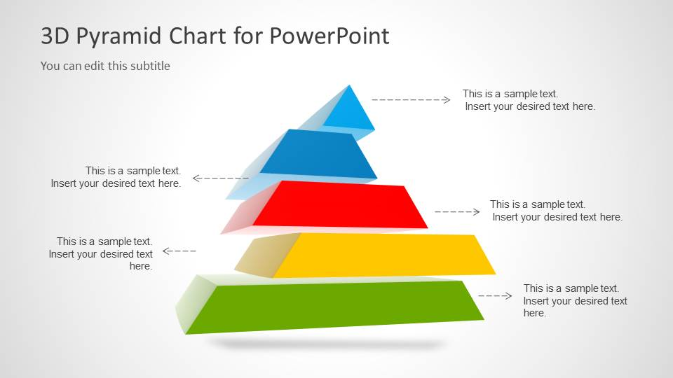 D Pyramid Template For Powerpoint With  Segments  Slidemodel