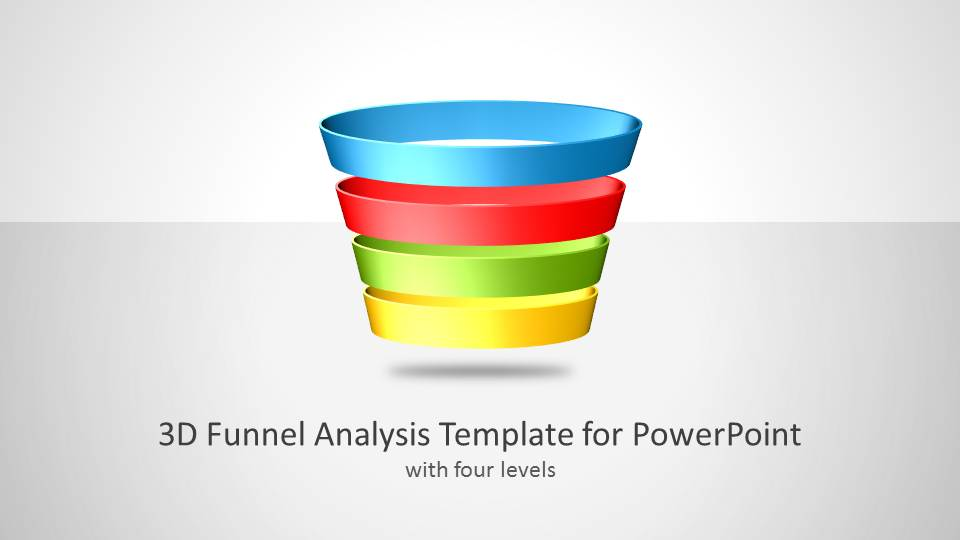 PPT 3D Funnel Analysis Diagram