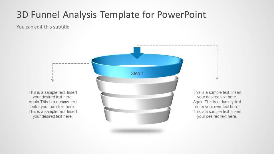 Multi Step 3D Funnel Analysis Diagram - Step 1