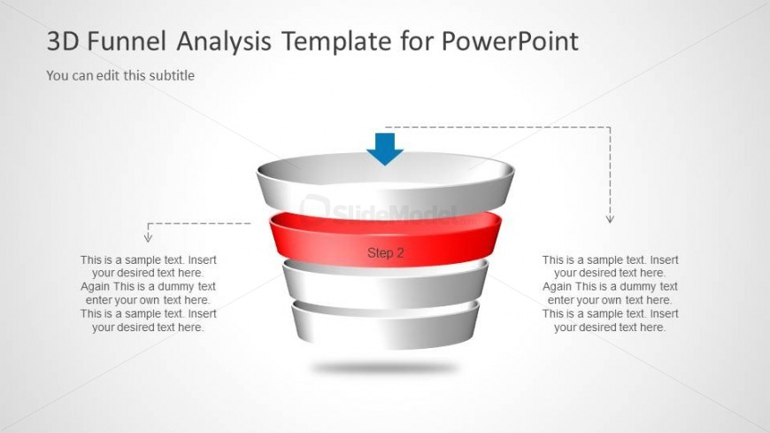 Multi Step 3D Funnel Analysis Diagram - Step 2