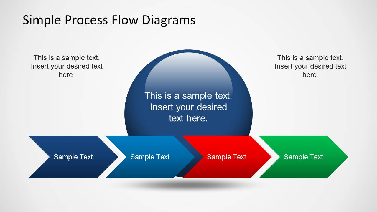 Simple Chevron Process Flow Diagram for PowerPoint - SlideModel