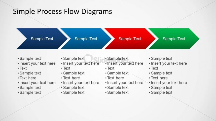 Simple Chevron Diagram For Process Flow Slides SlideModel