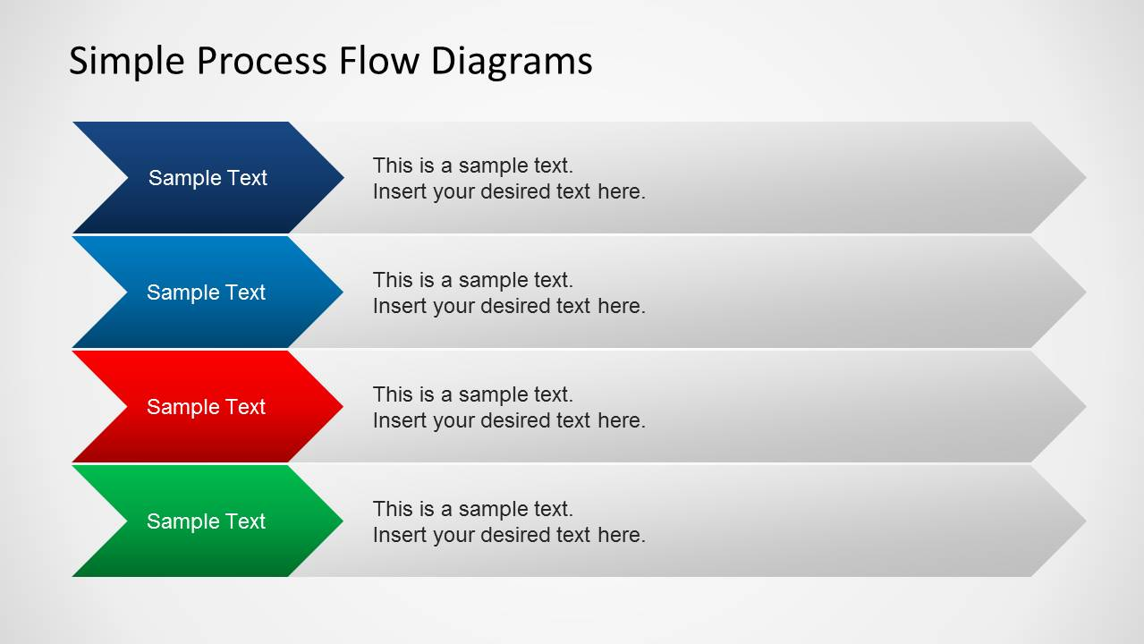 Simple Chevron Diagram For Process Flow Slides Slide Design With PowerPoint