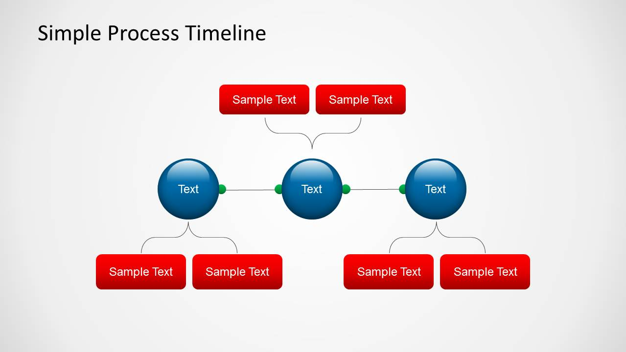 Simple Process Timeline Template for PowerPoint