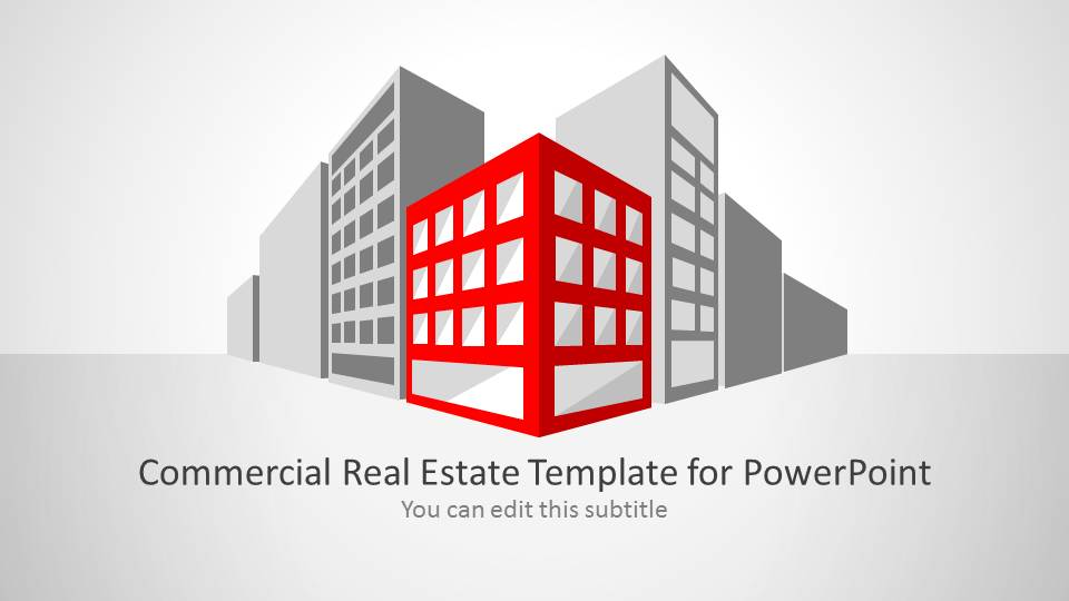 Commercial real estate template for powerpoint slidemodel for Commercial real estate marketing plan template