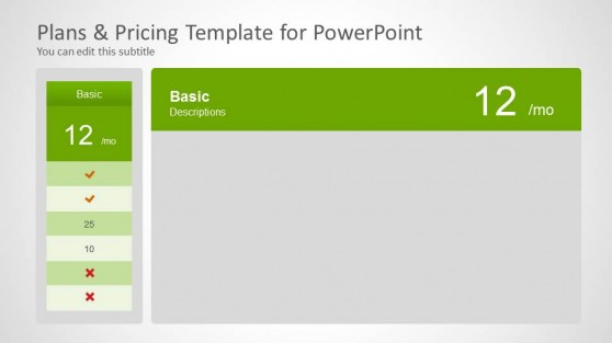 Saas powerpoint templates for Saas pricing model template