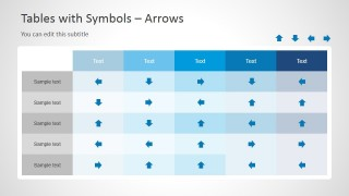 Arrows Table With Symbol Template