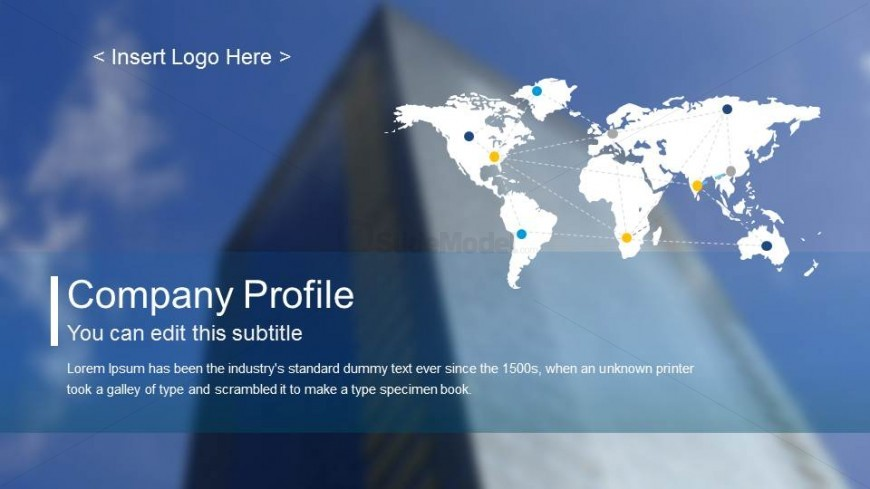 Company Profile Template Splash Slide
