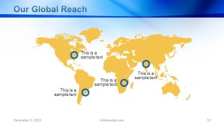 Company Profile Global Reach World Map