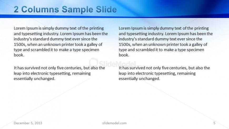 2 Columns Slide Design with Blue Title