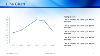 Data Driven Line Chart Slide Design with Sidebar