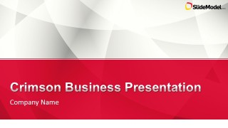 Crimson business powerpoint template slidemodel crimson business powerpoint template is a presentation template ready to be used as a company profile and including crimson color theme with gray white toneelgroepblik Gallery