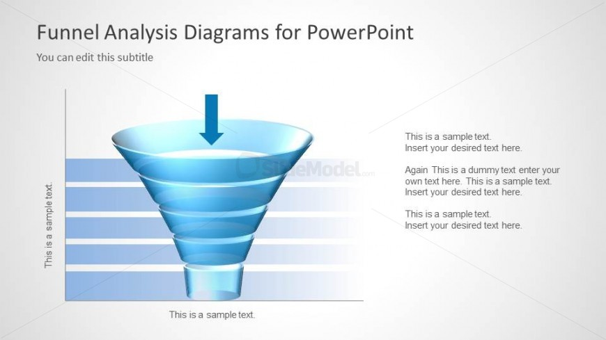 Funnel Analysis Slide Design with Chart