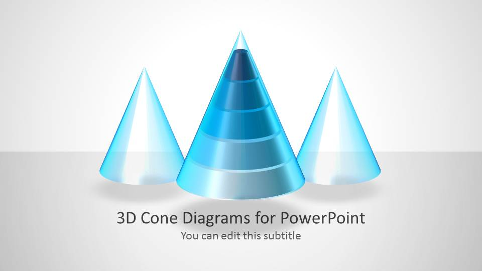 3d cone diagrams for powerpoint