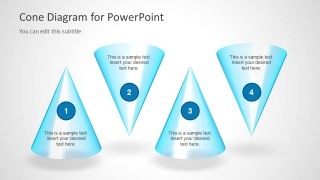 4 Cones for PowerPoint Slide Design