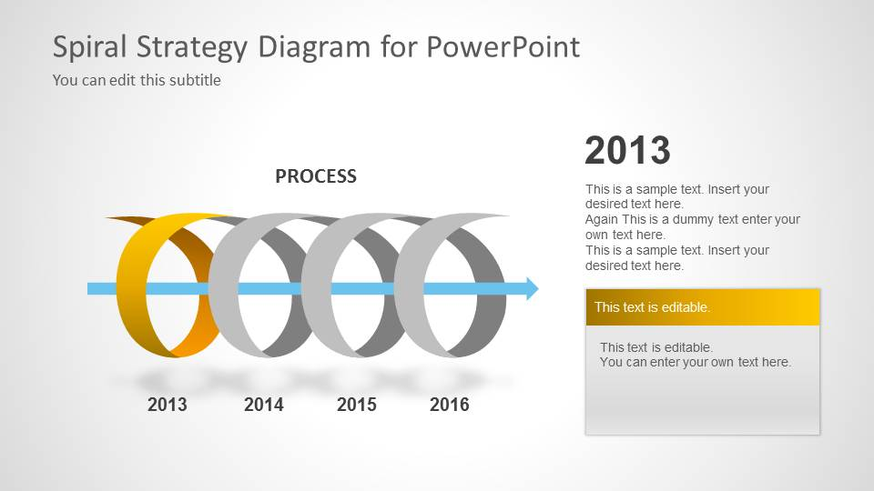 Spiral Strategy Diagram For Powerpoint