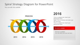 Spiral Strategy Diagram for PowerPoint 2016 Year