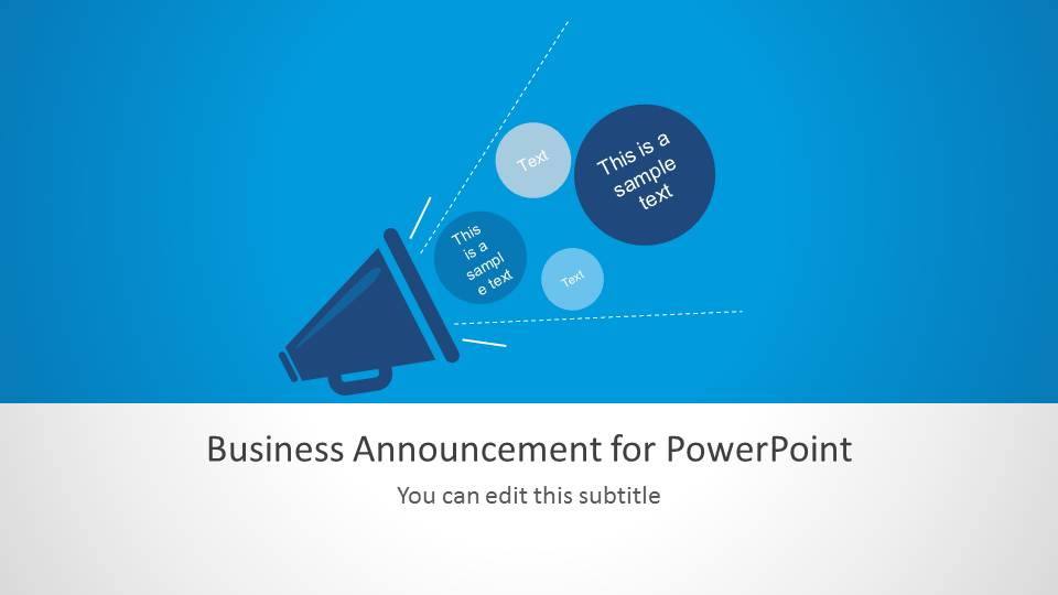 Business announcement template for powerpoint slidemodel business announcement template for powerpoint flashek Images