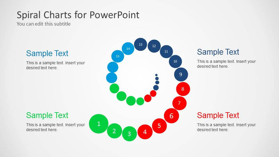 Spiral Chart Diagram For Powerpoint